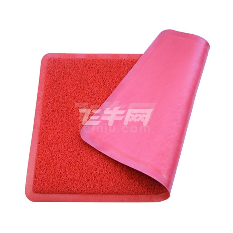 动动手 耐磨防尘踏垫 矩形红色无字40*60cm 红色