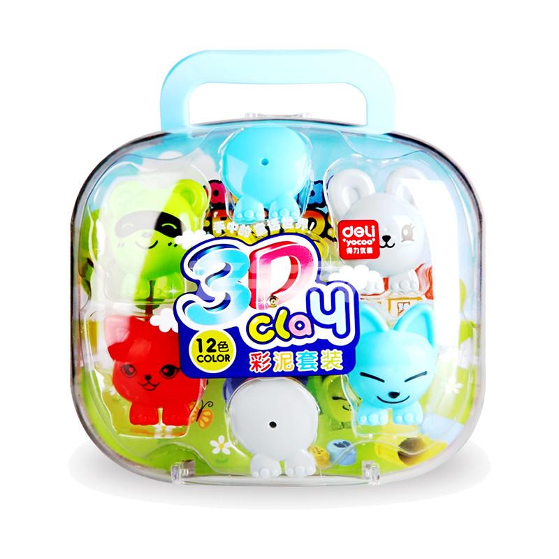 得力(deli)7045 3d彩泥(qq怎么弄指定红包世界)12色/盒