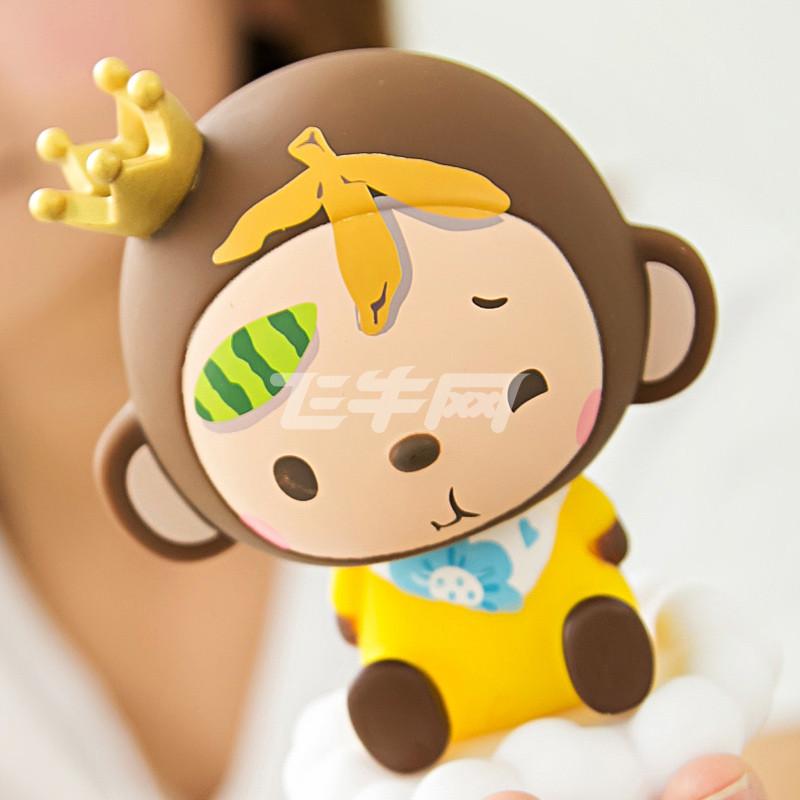 皇冠猴 汽车摆件车用摇头公仔娃娃 可爱单个装