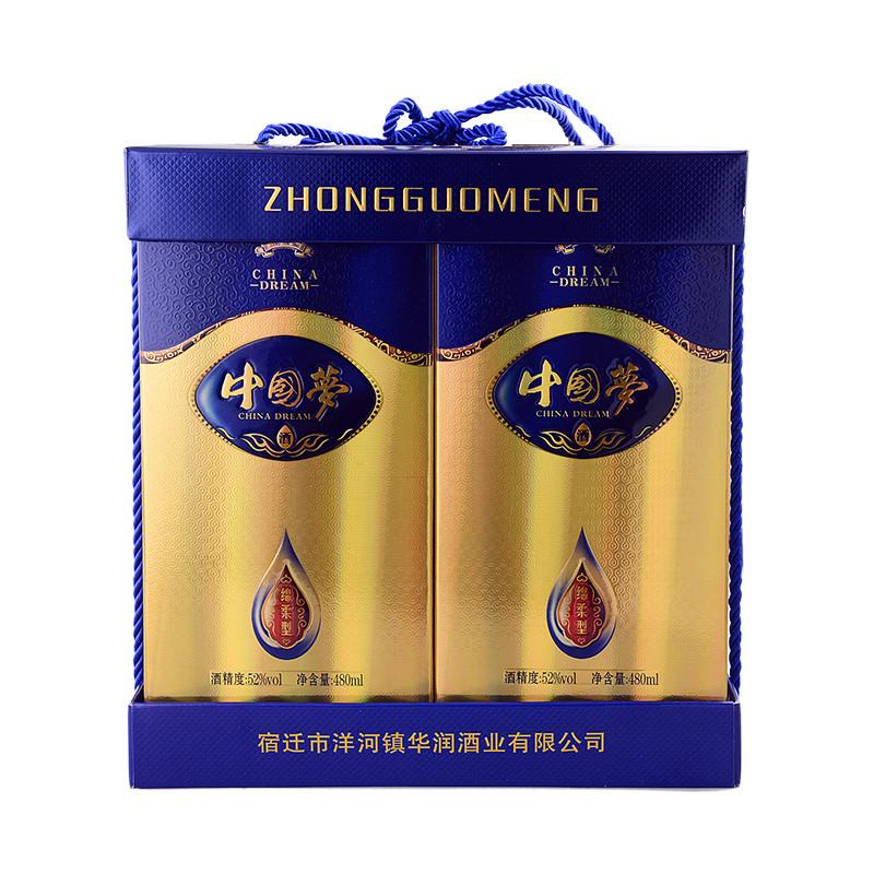 酒 白酒 52度中国梦礼盒 480*4瓶/提