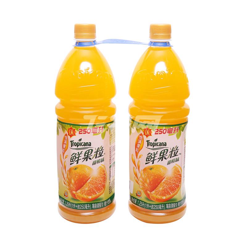 纯果乐鲜果粒促销装1l*2瓶/组
