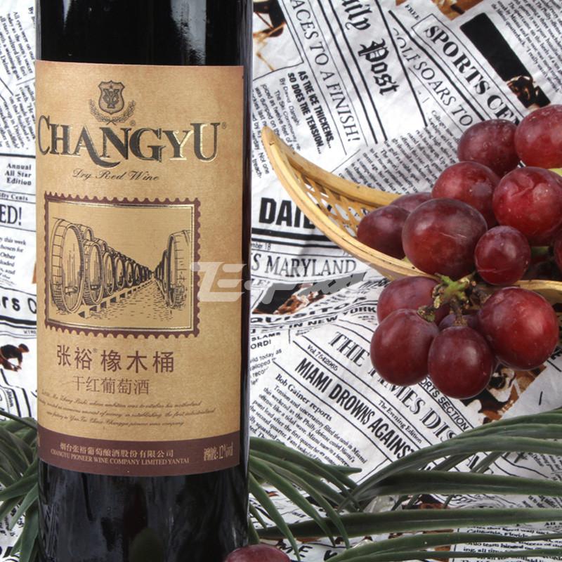 张裕橡木桶干红葡萄酒750ml/瓶