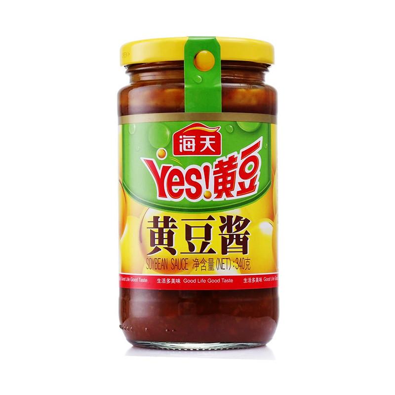厨房调味 豆豉/豆瓣酱 海天黄豆酱 340克/瓶