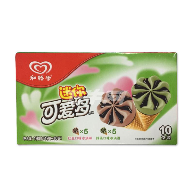 迷你可爱多 甜筒抹茶&红豆口味冰淇淋 190g/盒
