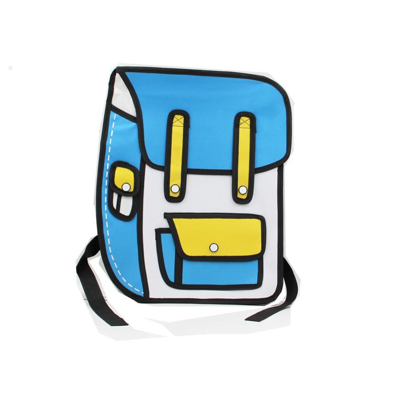 苏帕斯玛 台湾二次元漫画包2d立体书包3d个性双肩包背包潮男女包 bb01