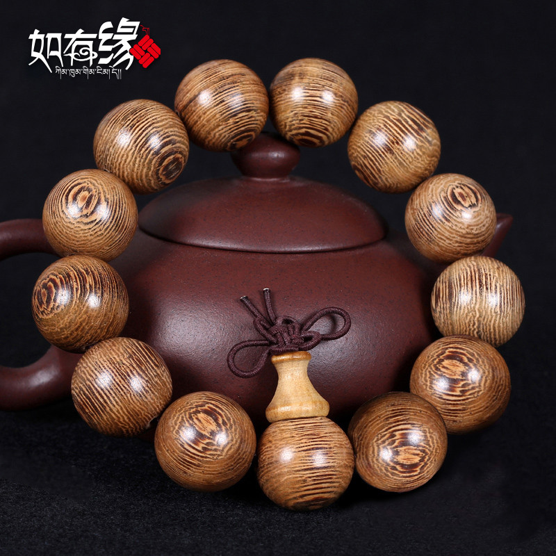 精品非洲鸡翅木20mm金丝檀木手串手链佛珠