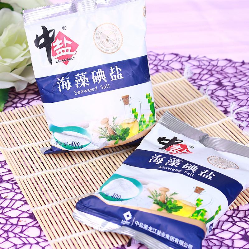 中盐海藻碘盐 400克/包