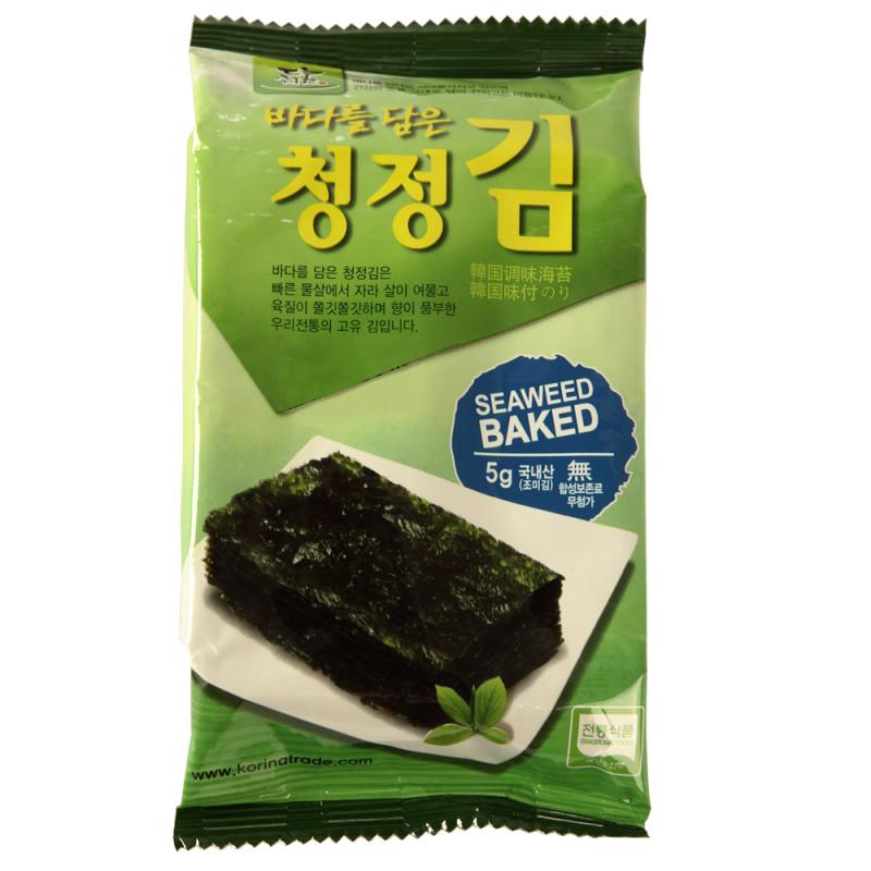 韩国 韩欣 调味海苔(原味) 5g*12