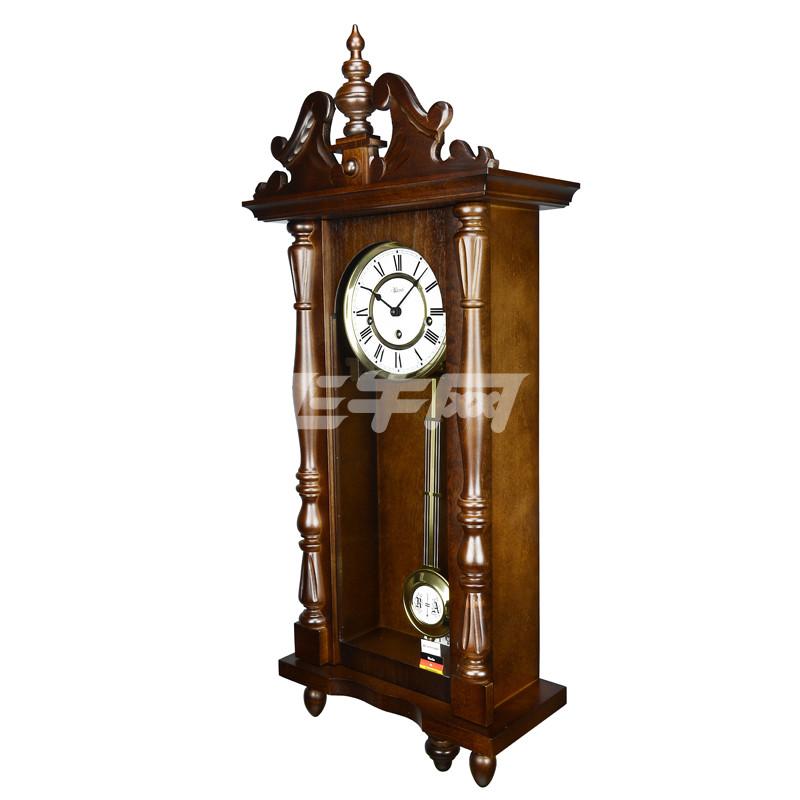 赫姆勒(hermle) 实木红木复古雕花金色钟摆8天动力储存机械挂钟70110