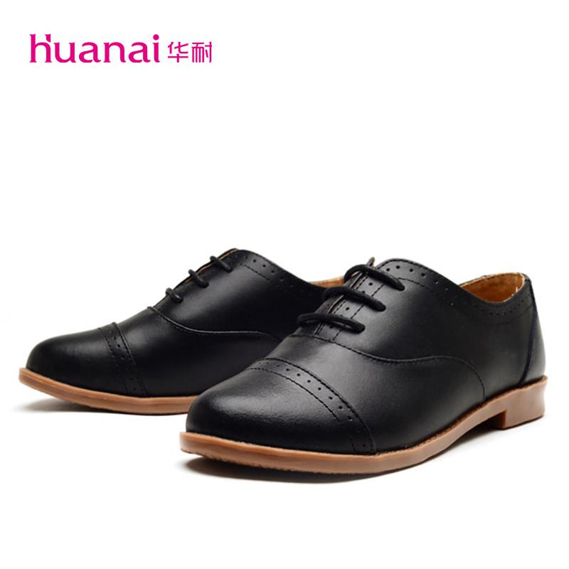 真皮英伦风复古女鞋小皮鞋系带低跟单鞋