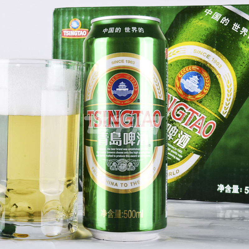 青岛啤酒经典10度500ml*12罐/箱