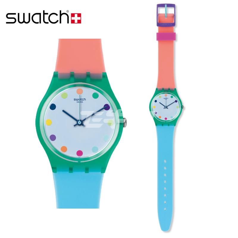 斯沃琪(swatch) 手表原创系列糖果色甜美可爱休闲石英