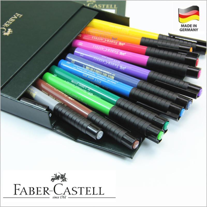 辉柏嘉漫画软头马克笔12色167146动漫手绘软头水彩笔