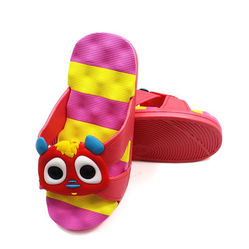御乐1611儿童中童卡通时尚可爱凉拖鞋 yu1611