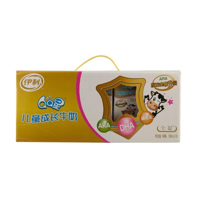 伊利qq星儿童成长牛奶(全聪型) 190ml*15盒/箱