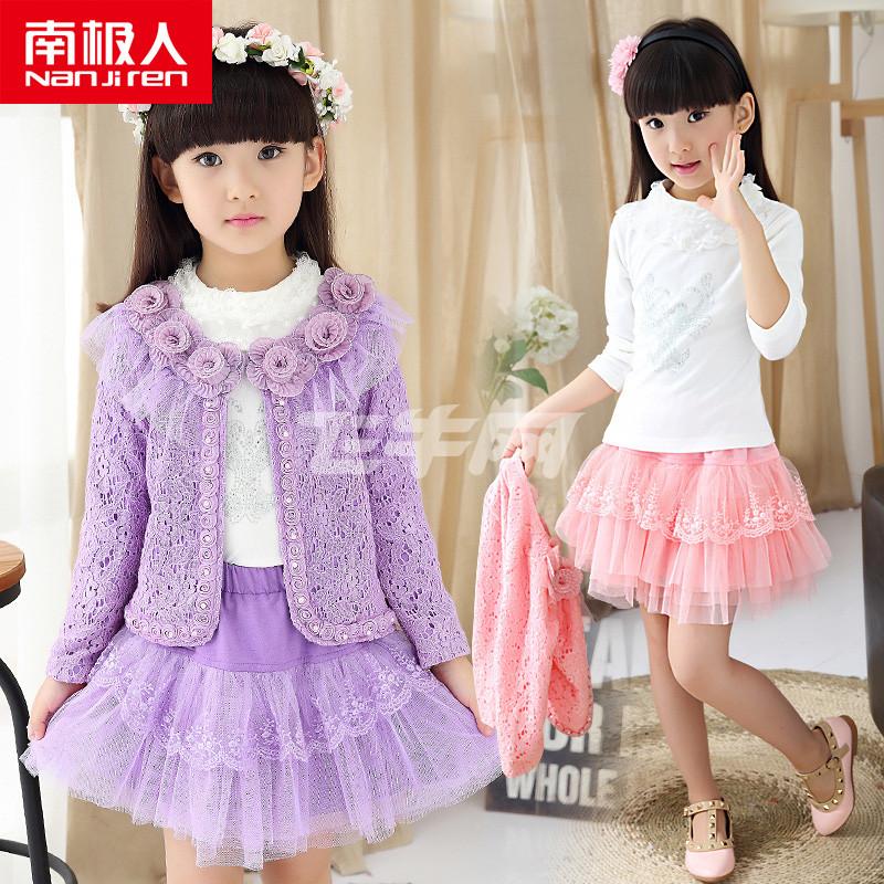女童裙子春装花朵连衣裙韩版儿童长袖蕾丝图片