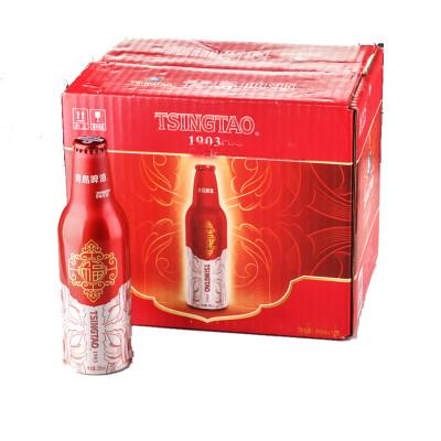 青岛啤酒鸿运当头铝瓶355ml*12瓶/箱