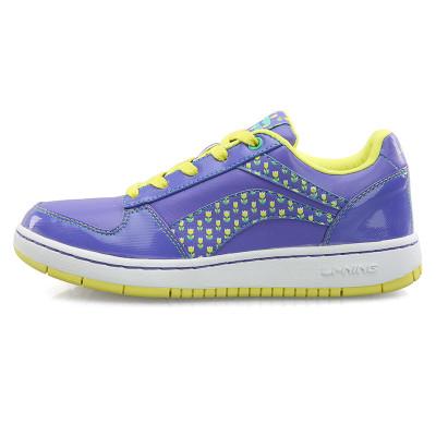 李宁 春秋款女鞋经典时尚板鞋防滑休闲鞋运动鞋 ALCE680 兰花紫 809