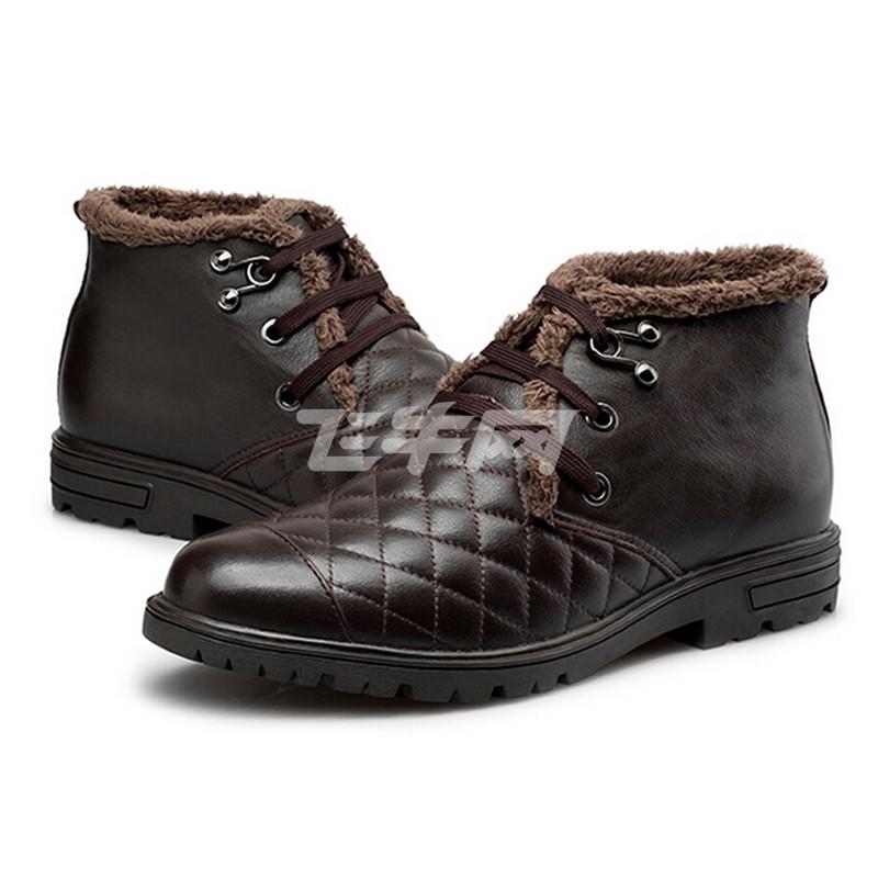 红蜻蜓 时尚休闲绒里男棉鞋