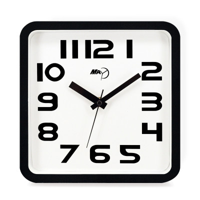 may 美时挂钟客厅正方形钟表简约卧室时钟现代创意时尚石英钟办公挂表