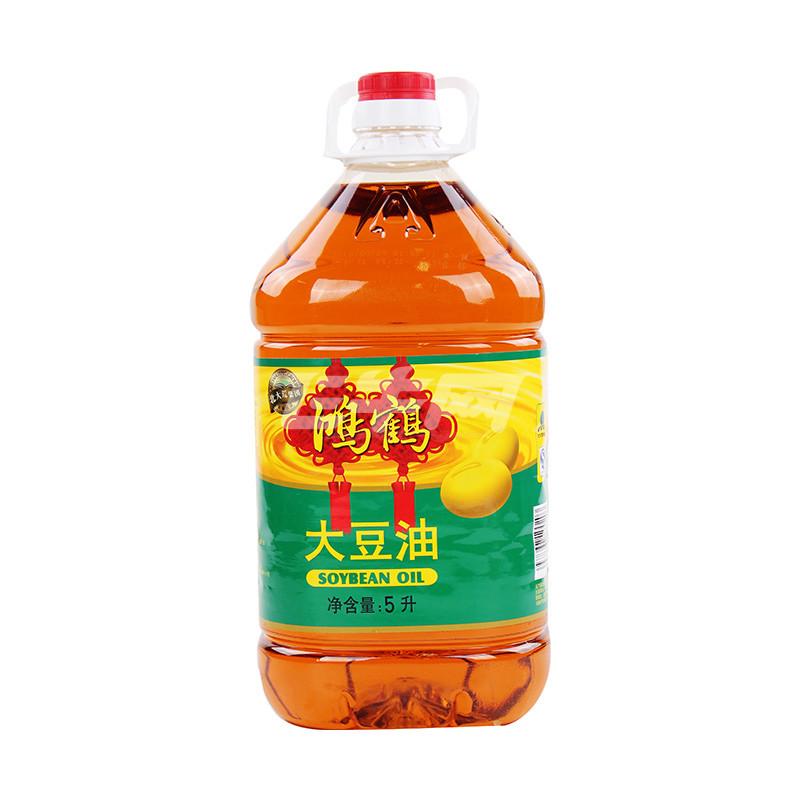 鸿鹤大豆油三级5l价格