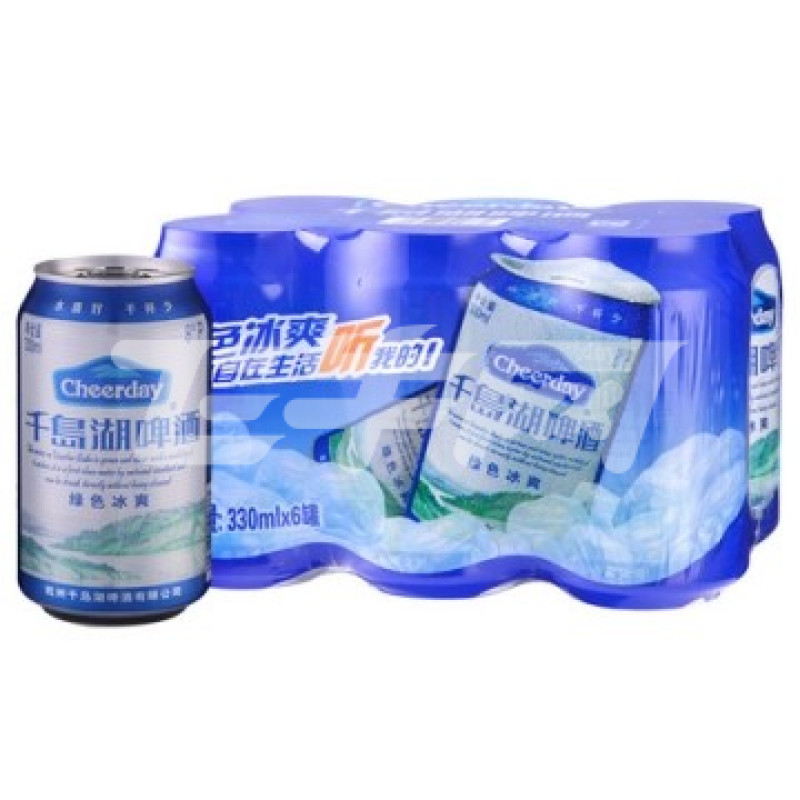 千岛湖 绿色冰爽啤酒 330ml*6罐/组价格
