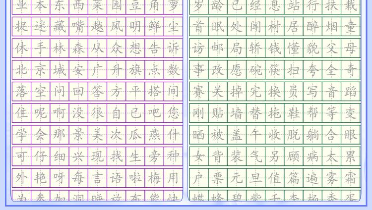 品轩阁 魔幻练字套装 初级版 小学楷书 小学生专用练字 青少年硬笔书法
