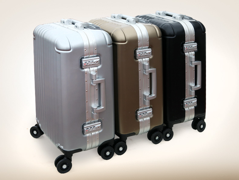 亨得利 拉杆箱pc+abs铝框男飞机轮旅行箱行李箱拉箱女