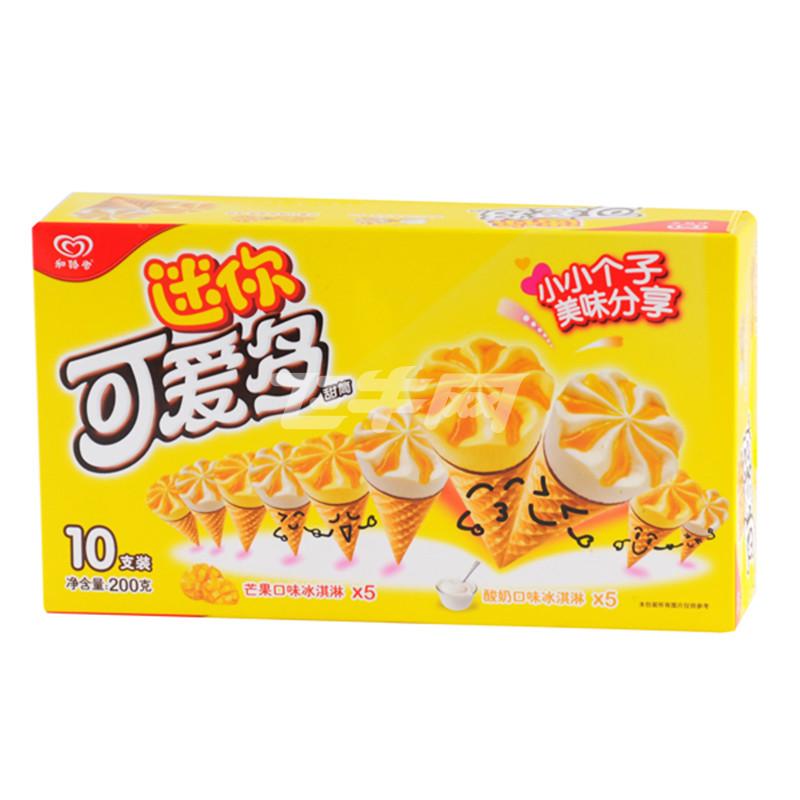 迷你可爱多 甜筒芒果&酸奶口味冰淇淋 200g/盒
