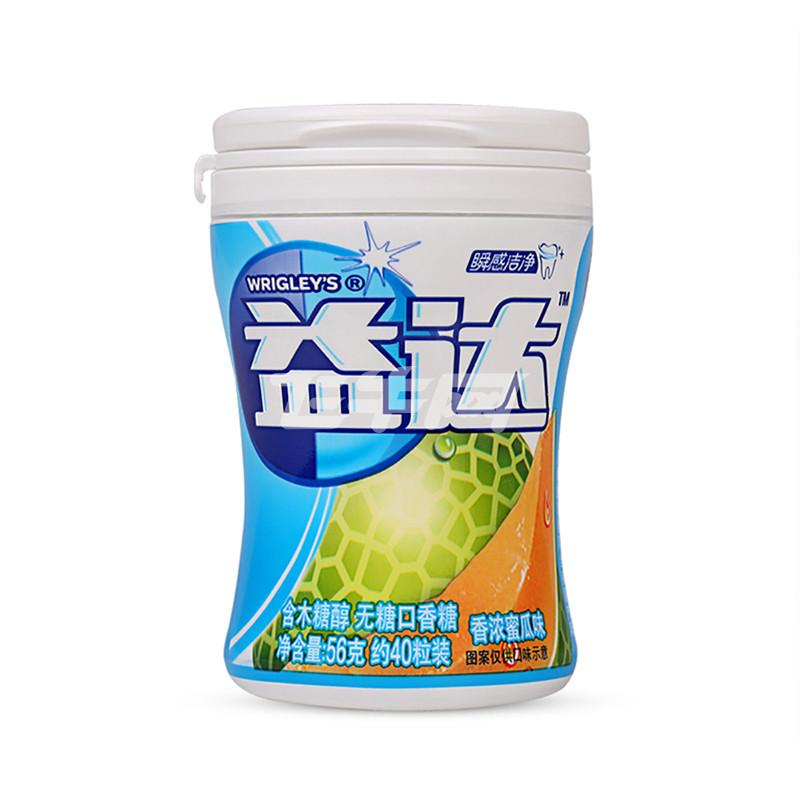 益达 木糖醇无糖口香糖(香浓蜜瓜味) 56g/瓶