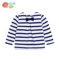 贝贝怡 新款女童秋装婴儿纯棉长袖宝宝上衣儿童套头衫 163S247