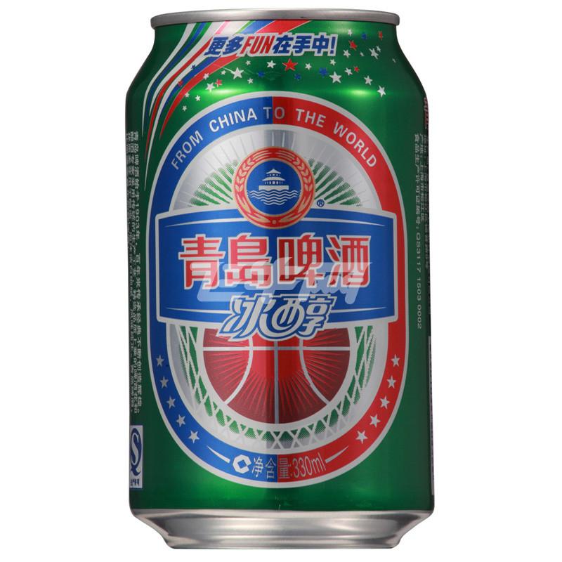 青岛 冰醇啤酒 330ml*24罐/箱