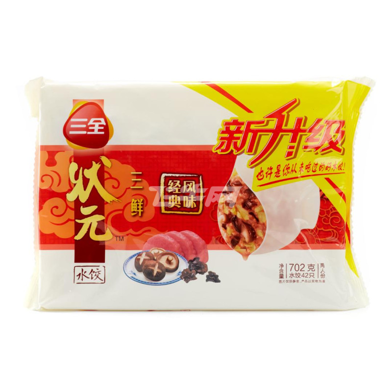 三全 状元珍味三鲜精品水饺 702g 袋